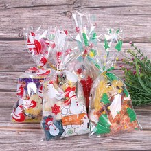 50pcs Christmas Bags Candy Cookie Bags Holiday