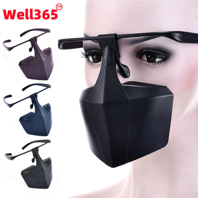 Reusable Washable Against Droplets Anti-fog Plastic FaceMask Protective FaceMask Anti-Saliva Isolation Face Shield Mouth