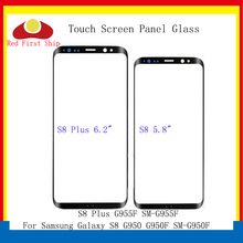 10Pcs/lot Touch Screen For Samsung Galaxy S8 G950 G950F / + plus G955 G955F Panel Front Outer LCD Glass Lens