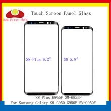 Tela sensível ao toque para samsung, tela touchscreen para samsung galaxy s8 g950 g950f/s8 + plus g955 g955f, painel frontal e exterior de pçs/lote s8 lcd lente de vidro