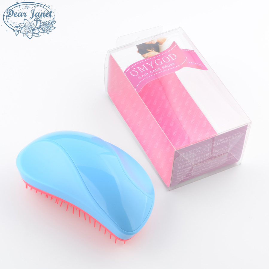 Mango Shape Detangling Hair Brush Soft Teeth Detangle Hair Comb Magic Hairdressing Salon Styling Tools Pink Blue Black With Box
