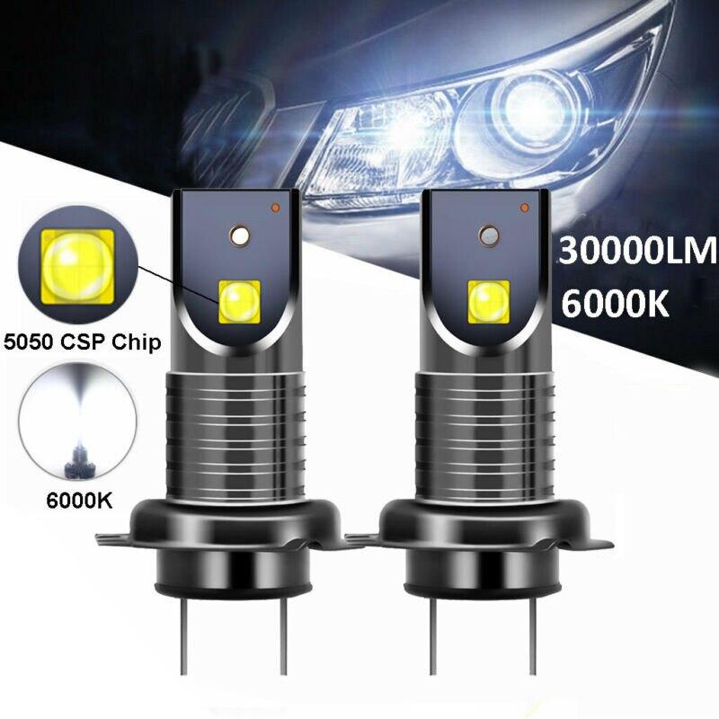 2 Pcs H7 Led Car Headlights Led Lights Bulbs For Auto Headlight Bulbs Fog Light Driving Light 12v 6000k White Super Bright Car