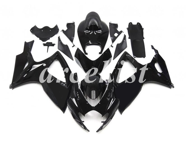 New ABS Full <font><b>Fairings</b></font> Kit Fit For SUZUKI GSX-R600 GSX-R750 06 07 R600 R750 K6 <font><b>GSXR</b></font> <font><b>600</b></font> 750 <font><b>2006</b></font> 2007 body set black glossy image