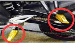 CNC arka yolcu ayak kazıklar pedallar Yamaha TMAX500 TMAX530 XP500