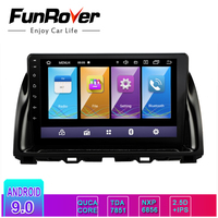 Funrover android 9.0 2.5D+IPS car dvd For Mazda CX5 CX 5 CX 5 2013 2016 car radio multimedia player stereo vedio gps navigation