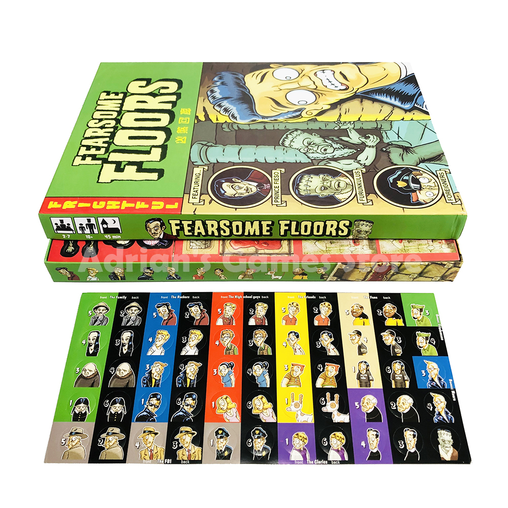 Image 2 - Fearsome Floors Frightful Board Game Finstere Flure Easy To Play 2 7 Players Party GameBoard Games   -