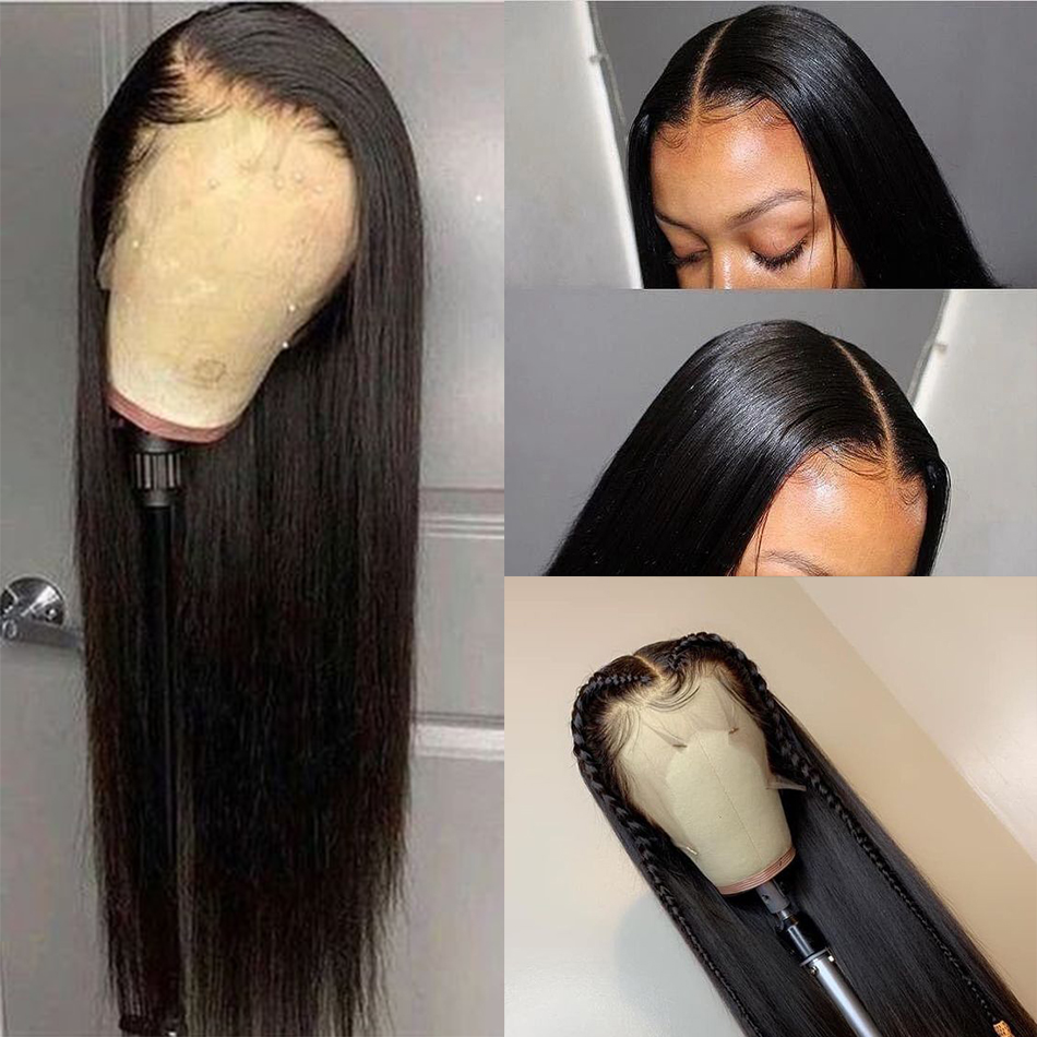 Indian Wig Straight Lace Front Wig 13*4 Lace Front Human Hair Wigs Pre-Plucked With Baby Hair Mshere Remy Lace Wig