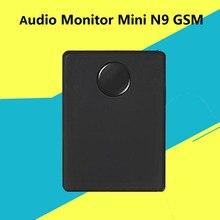 Monitor de áudio mini dispositivo n9 gsm espião escuta vigilância dispositivo pessoal alarme acústico construído em dois mic anti-perdeu posição