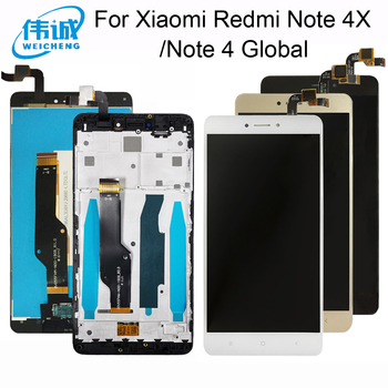 AAA Quality For Xiaomi Redmi Note 4X LCD Display + Touch Screen For Redmi Note 4 Global Version LCD+Frame For Snapdragon 625