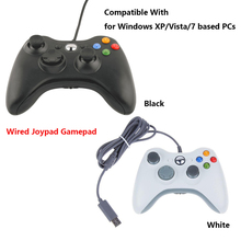 Wired Joypad Gamepad Controller Joystick For Official Microsoft PC for Windows 7 / 8 10 Black White