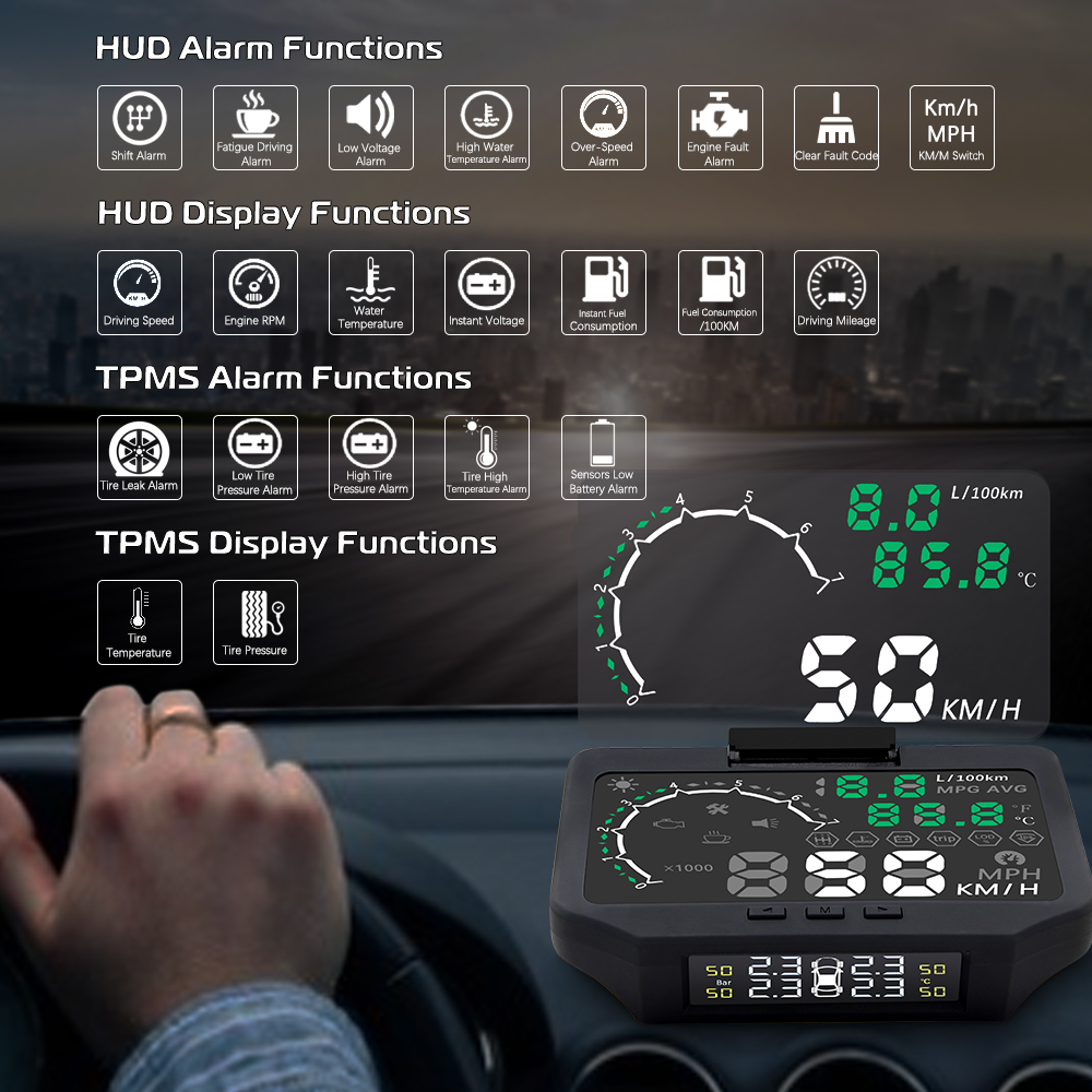 SZDALOS TPMS Tire Pressure Monitoring Systerm //tyre burst early-warning system