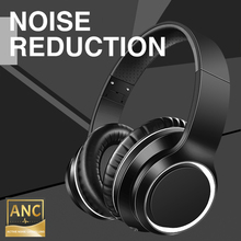 Bluetooth ANC Headphone Active Noise Canceling Wireless Headphones Wired Headset With HiFi Sound Deep Bass 30H Playtime mixcder e7 wireless headphone hifi active noise cancelling bluetooth v5 0 headphone anc over ear headset for phone