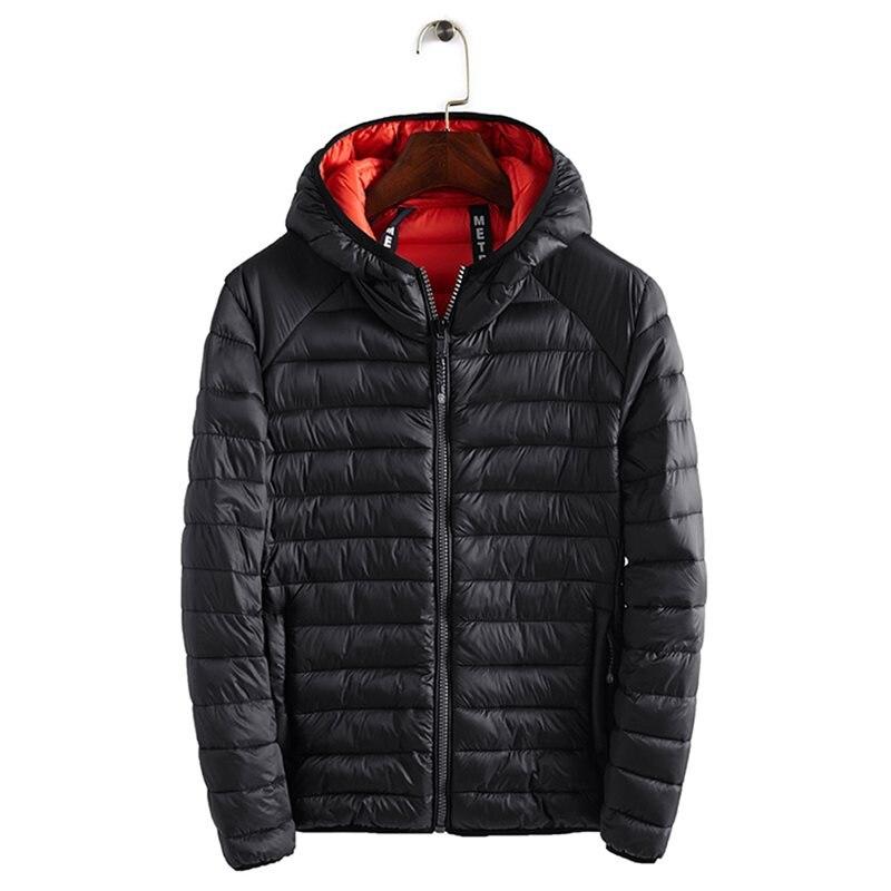 Vintage Plus Size 3XL Casual Men Down Jacket Winter Tops 2019 Black Plus Size Warm Basic Outwear Coat Male 5 Colors Down Jacket