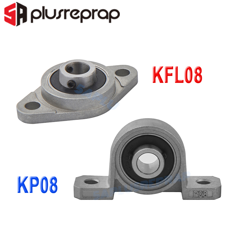 1/2/4PCS KFL08 KP08 8mm Bore Diameter Pillow Block Flange Rhombic Bearing Zinc Alloy 3D Printer DIY Parts For T8 Lead Screw