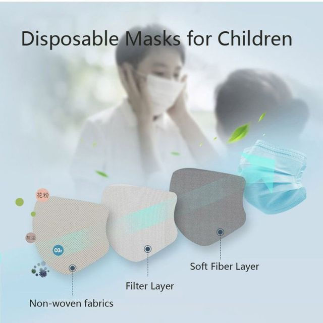 12/24Pcs Child kids Masks Size Anti-dust Sun protection Safe Breathable 3-Layer Anti Flu Mouth Mask Disposable Mask 1