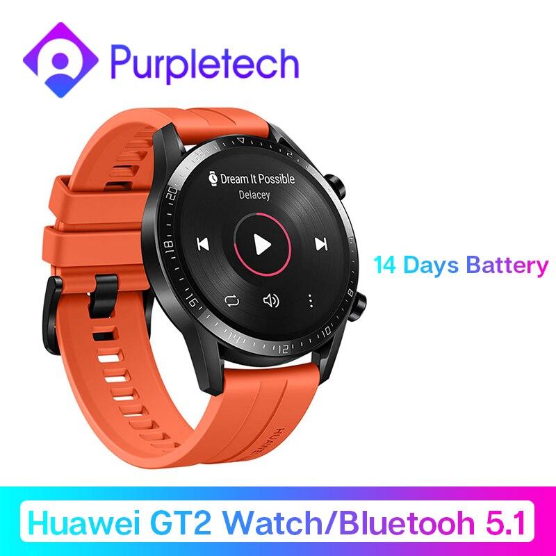 Смарт часы huawei GT 2 GT2, измеритель уровня кислорода в крови, spo2, Bluetooth, умные часы, 5,1, для телефонных звонков, трекер сердечного ритма, музыка для