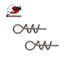 ESFISHING 50PCS Fishing Hook Connector Soft Bait Spring Centering Pins Fixed Latch Needle Spring Twist Crank Lock For Soft Lure