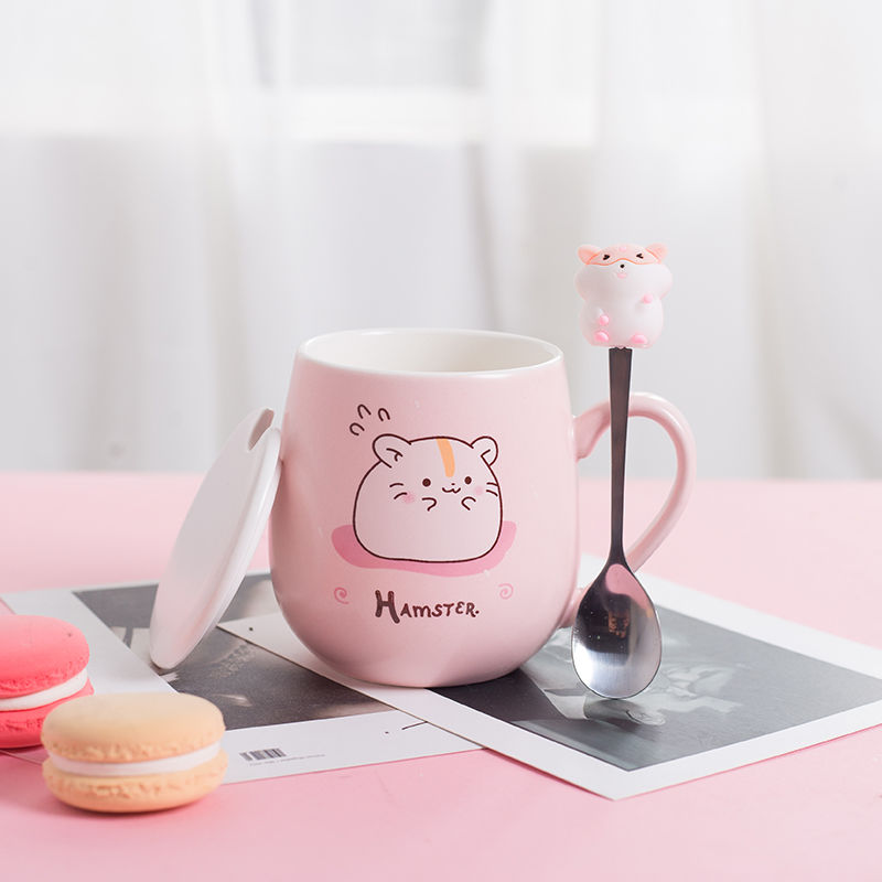 Kawaii Hamster Ceramic Cup (450ml) - Limited Edition