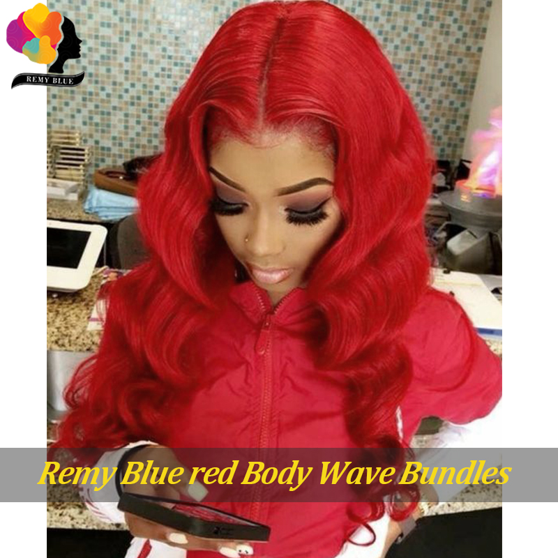 pacotes vermelho 99j borgonha indiano cabelo humano