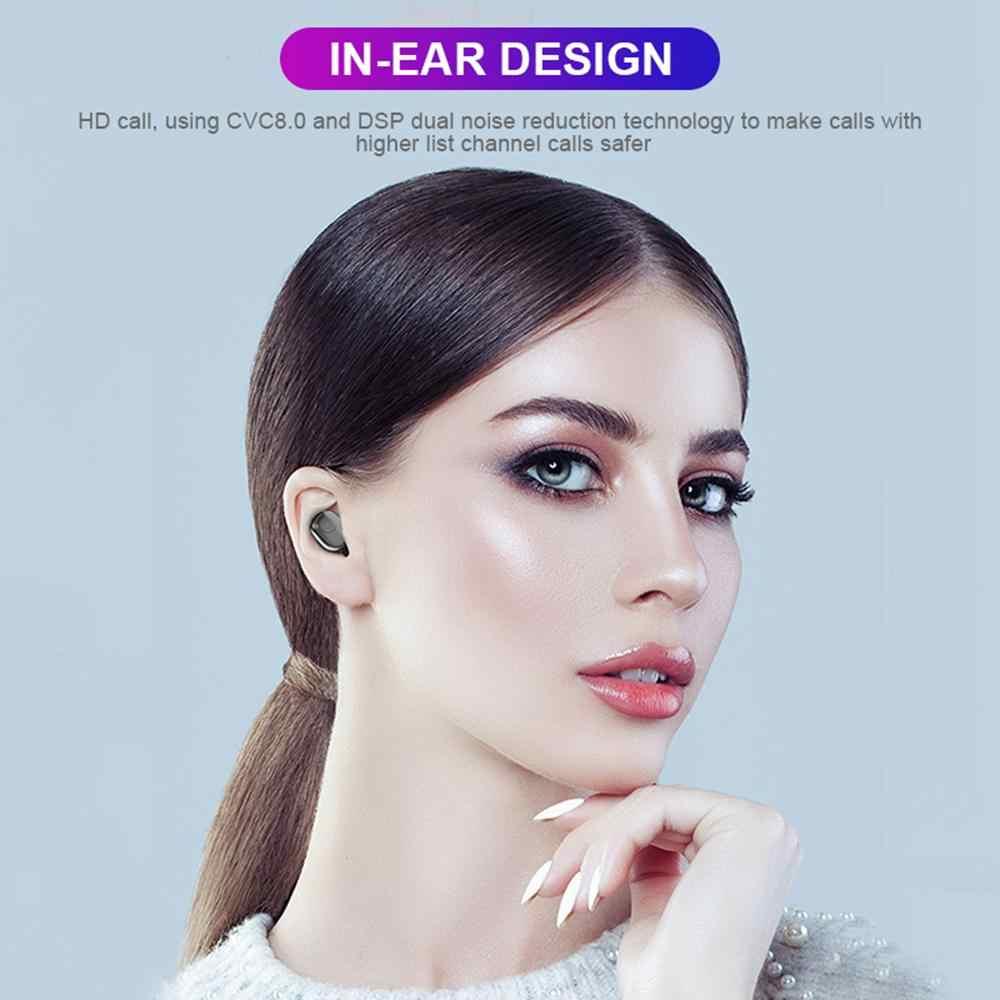 TWS 5.0 bezprzewodowe słuchawki Bluetooth Stereo zestaw słuchawkowy IPX7 wodoodporne słuchawki 3500mAh LED moc banku ładowarka samochodowa do Xiaomi iphone