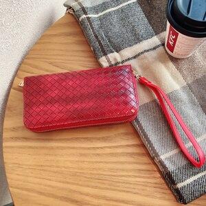 Image 5 - 高級地紋クラッチ4.0〜6.7サイズユニバーサル携帯財布Fhx 21T iphoneサムスンhuawei社xiaomi電話バッグ