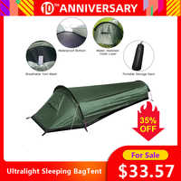 Ultralight Tent Backpacking Tent Outdoor Camping Sleeping Bag Tent Lightweight Single Person Tent