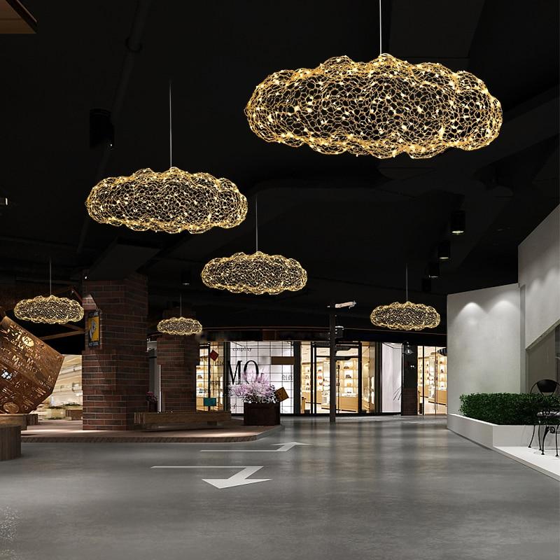 Creative Cloud Pendant  Light Led Pendant Lamp Starry Personality Hotel Restaurant Bar Designer Firefly M Creative Wire Art Lamp
