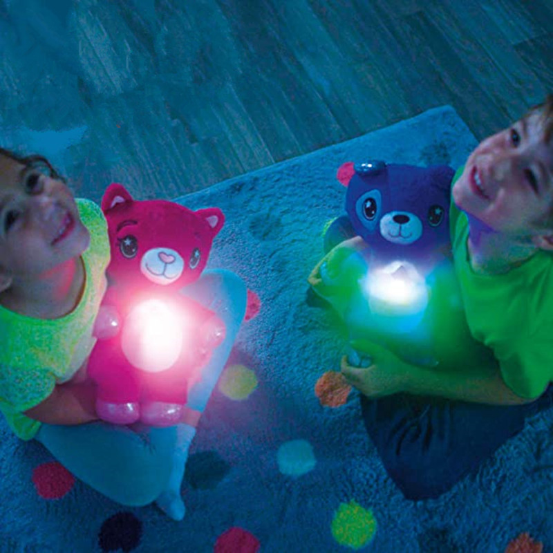 Plush Toy Stuffed Animal Night Light Projector In Star Dream Comforting Lite Toys Puppy Christmas Kids Children Gifts Dropship
