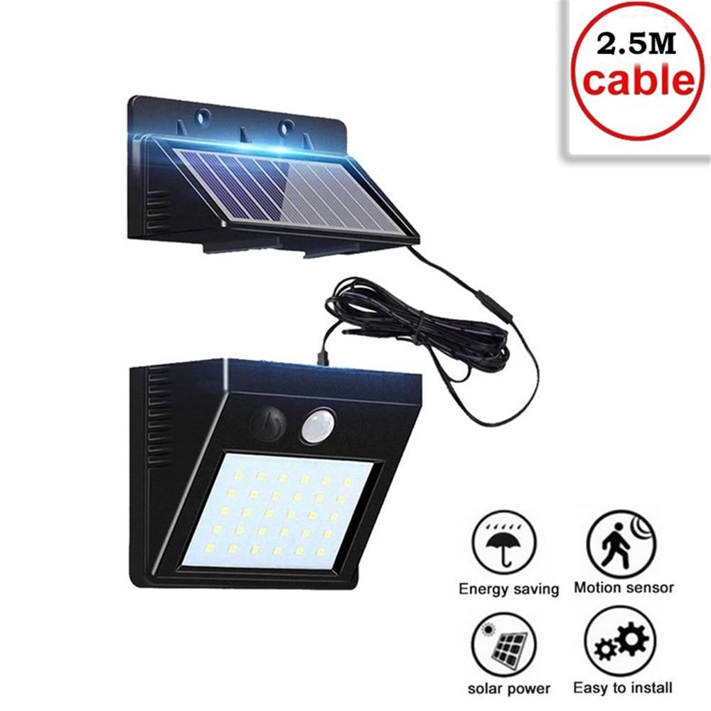 30 LEDs light PIR Motion Sensor Outdoor Waterproof Solar Powered lamp Waterproof Wall for Garden Yard Path Decoration indoor hom
