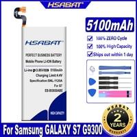 HSABAT 5100mAh batería para Samsung GALAXY S7 G9300 SM-G9300 G930L G930 G930F G930A G9308 G9309 G930FD G930W8 EB-BG930ABE