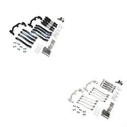 Металлические шасси тяги подвеска звено крепление амортизатор для MN D90 D91 D99 MS 1/12 обновленные детали для радиоуправляемых автомобилей