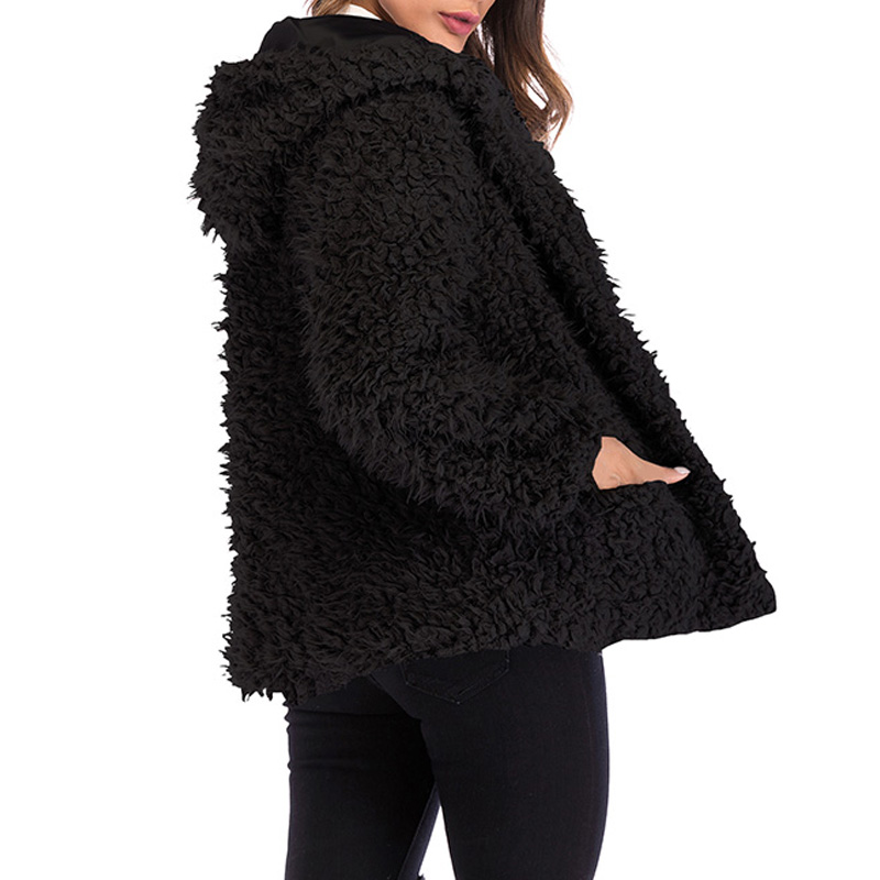Autumn And Winter Fashion Hot Women Hooded Short Coat Casual Long Sleeve Loose Faux Shearling Zipper Warm Cardigan Jackets hh88 in Wool amp Blends from Women 39 s Clothing