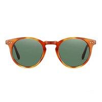 Kristen Stewart Retro Round Sunglasses Men OV5256 Vintage Polarized Driving Glasses Women Sir O 'malley Eyewear gafas sol mujer
