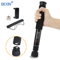 BEXIN Extendable lightweight portable mini camera monopod phone stand handheld unipod dslr camera video monopod for Sony Canon