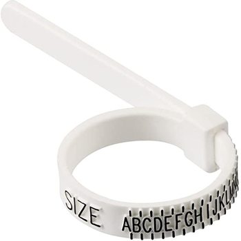 Size Ring Sizer Plastic Finger Sizing Measurement Belt Uk Ring Size Measurement Check Your Size Ring Sizer Measure Finger Size image