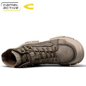 Image 4 - Camel Active Botines de piel auténtica para hombre, botas masculinas de alta calidad, a la moda, informales y cálidos, para invierno