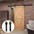 4-9 футов раздвижной сарай, деревянная дверь, фурнитура, подвесная рейка, деревенский черный шкаф, доставка в Европу