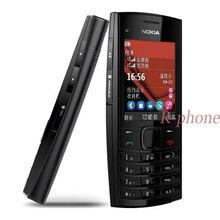 Remodelado original nokia X2-02 duplo sim telefone móvel symbian os desbloqueado telefone celular frete grátis