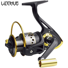LINNHUE Spinning Fishing Reel Super Power Smooth Fish Bearing 13 BB 5.2 :1 Gear Ratio Baitcast Full Metal CNC Wire cup