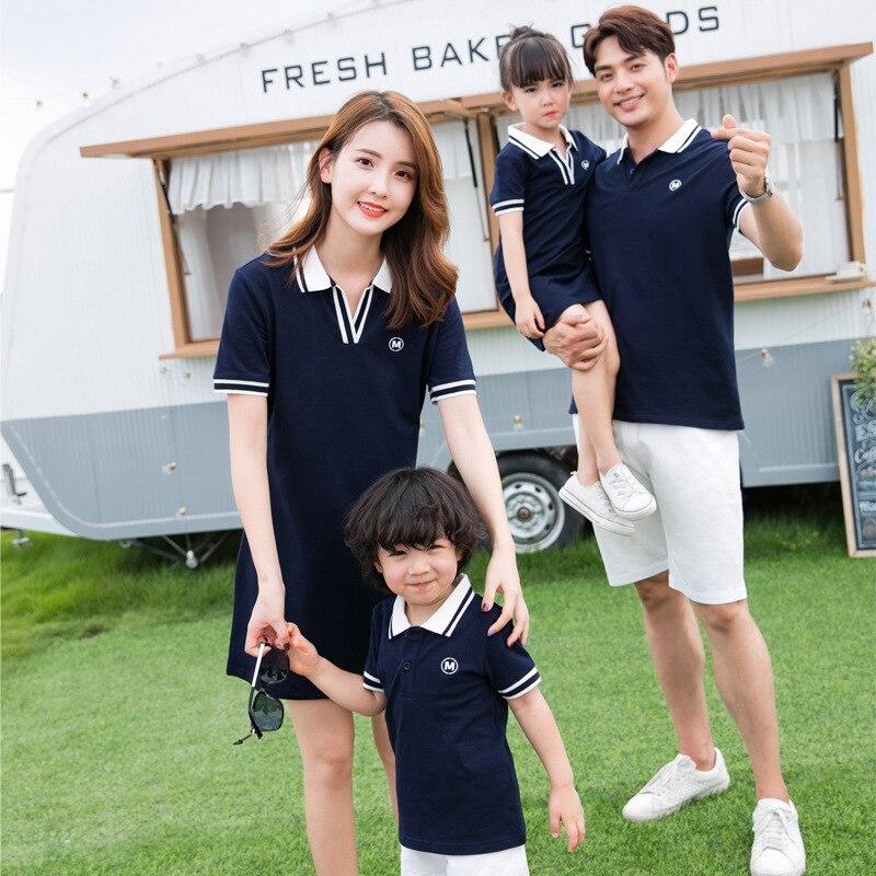 familia de tres novos estilos mae e filha vestido shorts conjuntos de camiseta mae e filha