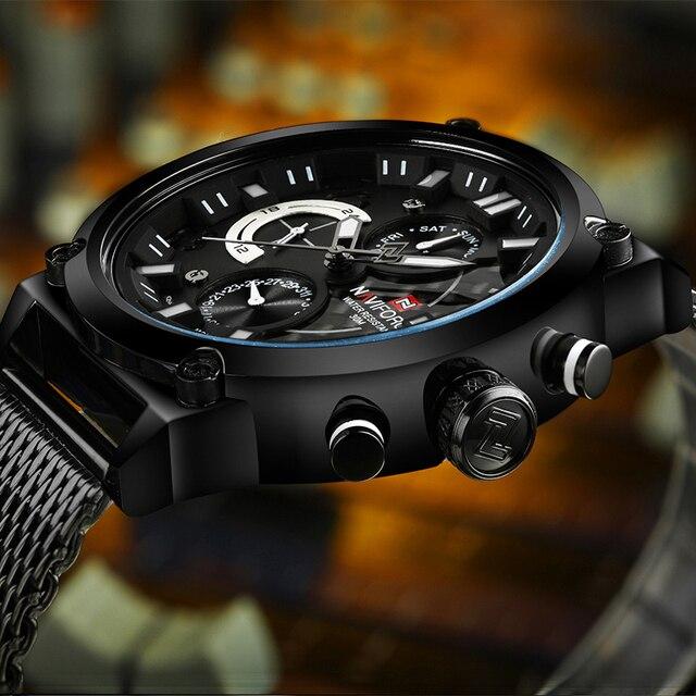 AVIFORCE NF9068S Fashion Casual Quartz Watch Men's Waterproof Sport Watche 4