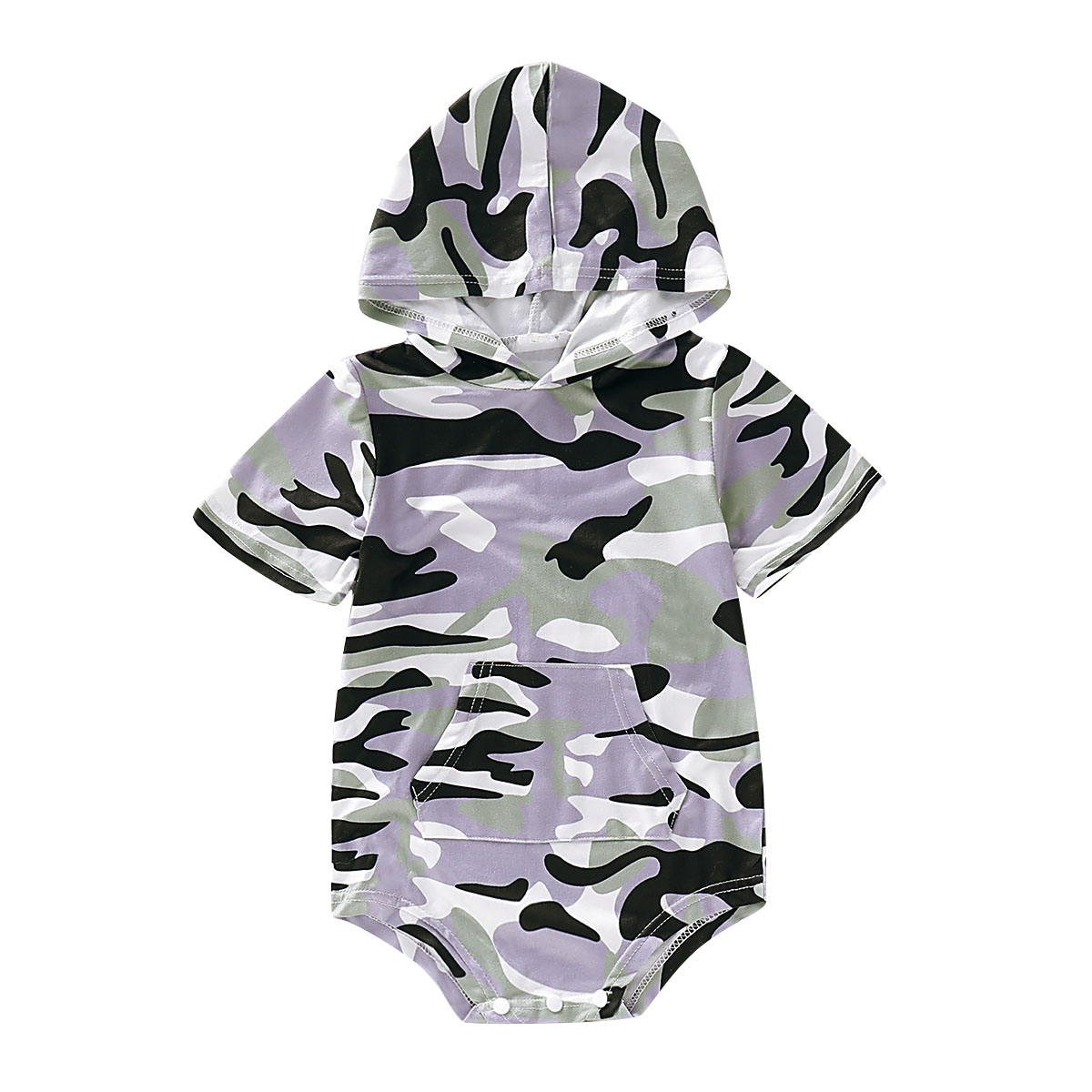 UK Infant Baby Boy 3M-24M Spring Clothes Camouflage Romper Jumpsuit Bodysuit Outfit