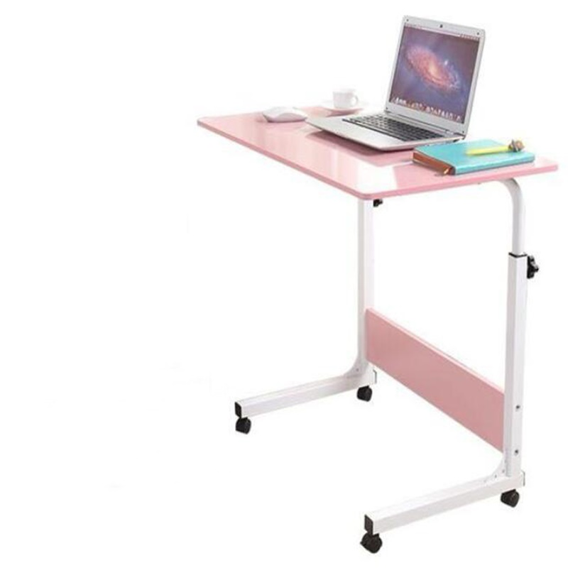 80x40cm Height-Adjustable Laptop Desk Lap Desk Movable Notebook Desks Study Desk With Wheels