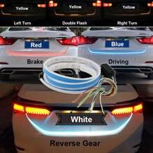 Promotion! Bande de freinage étanche pour porte arrière de voiture, 1.2m, 12V, quatre couleurs, Type d'écoulement, 36 LED