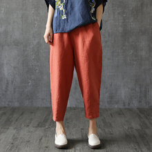 Pure Cotton Large Size WOMEN'S Pants Spring And Summer Capri