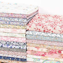 110 a 160cm x 50cm tela de sarga de algodón puro fresco floral hace pijamas ropa de cama tela de cortina 160 g/m envío gratis