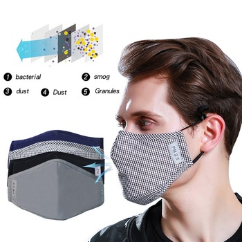 PM2.5 Mouth Mask High Quality Cotton Anti Dust Mask Activated Carbon Filter Windproof Mouth-muffle Bacteria Proof Flu Face Masks