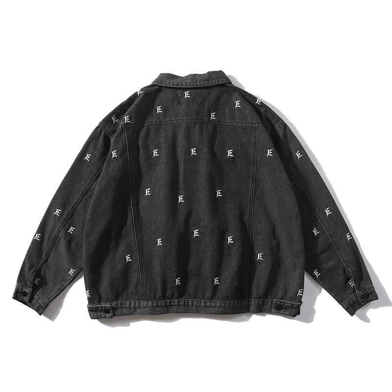 Джинсовая куртка с вышивкой женские свободные уличные женские джинсовые куртки 2019 Новая модная женская кофта