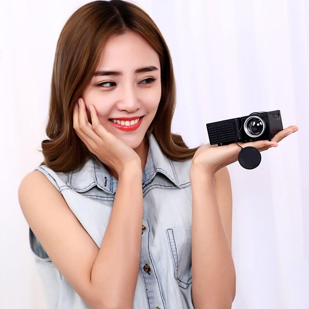 Горячая UC28B + проектор домашнего кинотеатра мини Miniature Портативный 1080P HD проектор мини светодиодный проектор для домашнего Театр развлечени...
