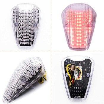 Luz trasera LED de señal de giro para Honda VTX 1300 VTX 1800 personalizada VTX1300 VTX1800 2002 luz indicadora de luz trasera de freno para motocicleta clara